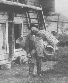 Basket weaver, Finland, 1898. Photo by Kaarle Anttila.