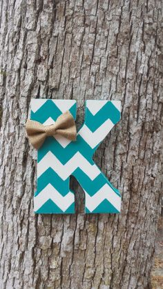 """8"""" Hand Cut Chevron Letter, Distressed Wooden Letter, Free Standing/Hanging Letter by ChicDesignsByTiffany on Etsy https://www.etsy.com/listing/497976275/8-hand-cut-chevron-letter-distressed"""