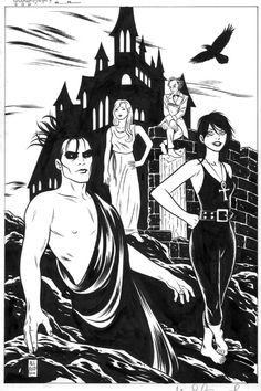 The Sandman and Death by Michael Allred from the collection of G.C.
