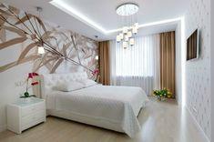 Подсветка в спальне. Фото дизайна света в спальне