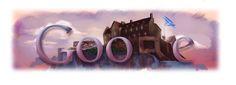 Arts and Logos Typography Logo, Art Logo, Lettering, Logos, Images Google, Art Google, Google Search Page, Edinburgh Castle, Google Doodles