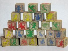 Disney Vintage Wooden Alphabet Blocks Disney Characters Lot of 25 Wooden Alphabet Blocks, Disney Toys, Framed Artwork, Candle Holders, Pottery, Antiques, Friends, Holiday Decor, Disney Characters