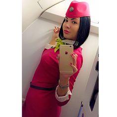 S7 Airlines Stewardess, Elena✨Maksimova @lady_of_the_sky