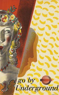 BARNETT FREEDMAN (1901-1958) THEATRE / GO BY UNDERGROUND. 1936