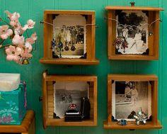 As gavetas são ideais para decorares as tuas paredes com novas prateleiras, ou mesmo obteres um espaço extra para armazenar pequenas coisas.