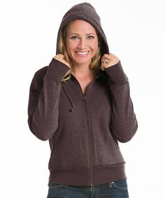 Take a look at this Earth Fitted Fleece Zip-Up Hoodie by Repair the World® on #zulily today!