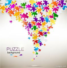 Ways to use puzzle pieces in yearbook design