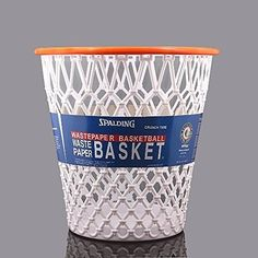 Shoot and score with this fun, Spalding Hoopster Wastepaper Basket. Perfect for child's, sports lover's or any room in your home. Made to resemble an authentic basketball hoop, it's a great way to get kids to compete on who can clean the fastest. Basketball Gifts, Basketball Hoop, Xavier Basketball, Basketball Decorations, Basketball Backboard, Fantasy Basketball, Boys Basketball Bedroom, Houston Basketball, Softball Gifts