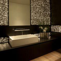 contemporary powder room by Aria Design Inc