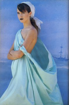 Editorial by Patrick Demarchelier for Vogue UK, January 1986.