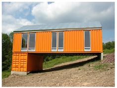 Two if by Sea: DIY Cargo Shipping Container Home on Stilts links to a shipping container house plan site!