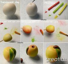 Как лепить фрукты и овощи из полимерной глины (ФОТО)