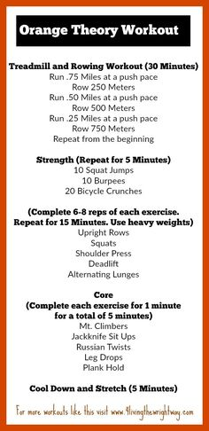 Image result for orange theory workouts