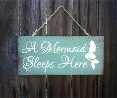 mermaid decor mermaid sign mermaid decoration by SurfShackSigns Mermaid Nursery Decor, Mermaid Bathroom Decor, Mermaid Bedroom, Girl Nursery, Mermaid Bedding, Nursery Ideas, Bedroom Ideas, Mermaid Sign, Mermaid Gifts