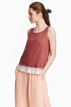 0e29a6954 Lace-trimmed vest top Model Latest Fashion Clothes