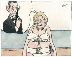 Merkel lehnt Eurobond ab.... Karrikatur von Peter Gut