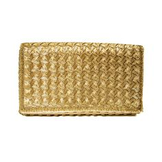 Gold Beaded Clutch Purse Deadstock Vintage Evening Bag by MorningGlorious on Etsy