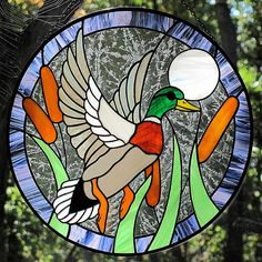 stained glass duck | Stained Glass Mallard Duck | ~I swear, this will be the last ...