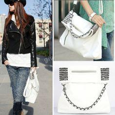 Корейский стиль Леди Женщины Кожа PU сумки женские сумки Мода Дешевые плеча хозяйственная сумка Кошелек белый, принадлежащий категории перем...