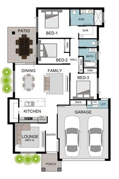 Grady Homes · Happy Hand Over in Kalynda Chase Brick House Designs, Narrow House Designs, Narrow House Plans, Small House Floor Plans, House Plans One Story, Best House Plans, Cottage Style House Plans, Bedroom House Plans, 5 Marla House Plan