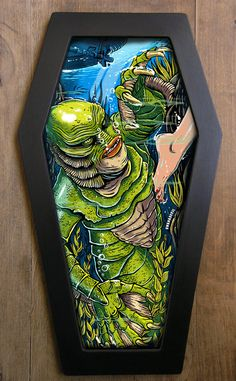 Hey, I found this really awesome Etsy listing at https://www.etsy.com/listing/88276204/creature-from-the-black-lagoon-coffin