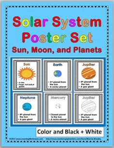 Solar System Posters Set {Sun, Moon, and Planets} - Marcia Murphy - TeachersPayTeachers.com