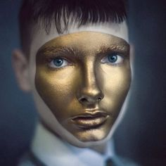 gold face paint