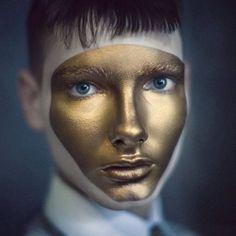 gold face paint