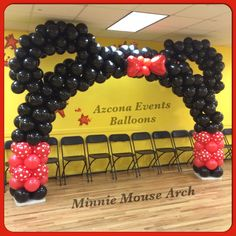 Minnie Mouse Balloons Arch By Us At Azcona Events