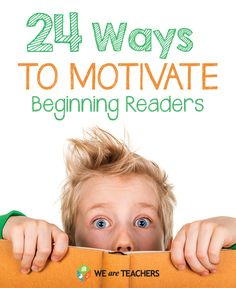24 Ways to Motivate Reluctant Readers Teaching First Grade, Primary Teaching, Teaching Kindergarten, Teaching Reading, Preschool, Primary Resources, Learning Resources, Teaching Ideas, Reading Projects