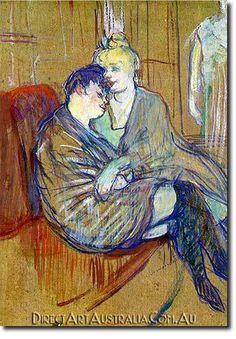 Henri de Toulouse-Lautrec | The Two Girlfriends - Direct Art Australia, Price: $199.00, Availability: Delivery 10 - 14 days, Shipping: Free Shipping, Minimum Size: 50 x 60 cm, Maximum Size : 100 x 150 cm, View the artwork before it is sent! www.directartaustralia.com.au/