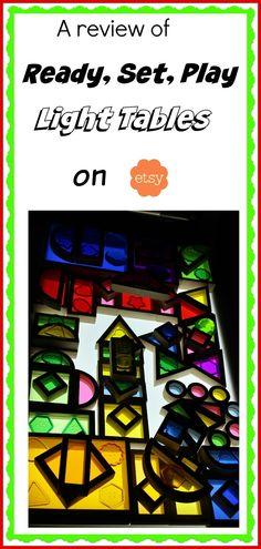A review of Ready, Set, Play Light Tables #lighttable #lightplay #ULTG