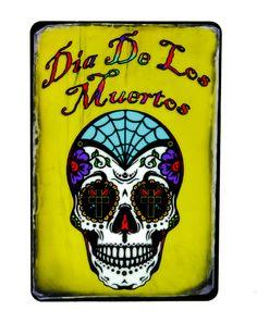 """Sugar Skull Day of the Dead Magnet """"""""Dia De Los Muertos"""""""" Decoration"""