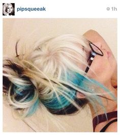 April lopes blue hair!