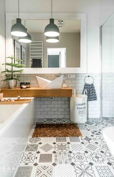 WOODY ALL - SHOKO DESIGN | Bathroom | azulejo Hidraulico | baldosa hidraulica | vives ceramica | cement tiles
