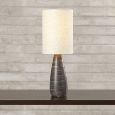 """Found it at Wayfair - 17"""" H Table Lamp with Drum Shade"""