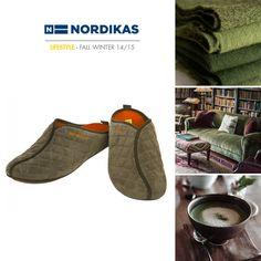 Nordikas Wash Kaki. #Nordikas #Lifestyle #Green #Piel #Calzadodehogar #Trend #MadeInSpain #FW1415