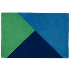 Shop Green Triangle Rad Kids Rug.  Our Rad Rug is a handcrafted kids area rug featuring blue and green triangles and is perfect for your kids' room, nursery or playroom.
