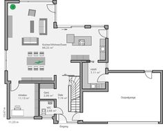 Grundriss EG Schönborn House Layouts, House Goals, House Floor Plans, My Dream Home, Home And Living, Future House, Interior Architecture, Decoration, Sweet Home
