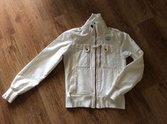 ADIDAS Damen Jeans-Jacke denim XS S 34/36 weiß gold Freizeit RAR