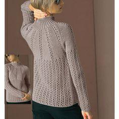 eyelet yoke pullover pattern at vogueknitting.com