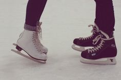 Ice skaters couple