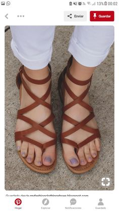 3e111ce8887ede Cute Sandals, Strappy Sandals, Leather Sandals, Flat Sandals, Shoes Sandals,  Shoe