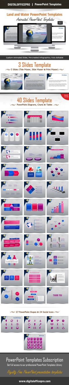 Water Theme PowerPoint Template Backgrounds - water powerpoint template
