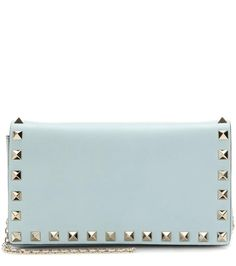 Valentino - Rockstud Small leather shoulder bag - Sky blue leather makes for a glamorous, fresh look day or night. - @ www.mytheresa.com