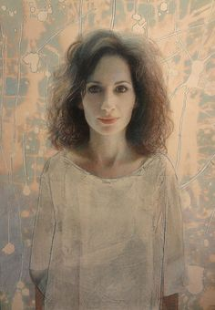 Oil paint, pastel, and collage portraits by Ann Marshall