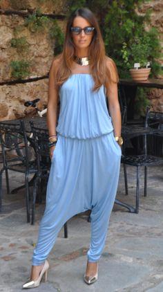 baby blue harem jumpsuit by malene birger