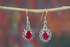 #Wholesale #Retail #Beautifully #Handmade #Ruby Gemstone #Earring for Women,by Brillante Jewelry Made from 92.5 sterling Silver #Ruby Gemstone #Earring. And by using Natural Gemtones..Pick this #Earring to add new definition to your Personality.About the Brand-Associated with Glamour,style and class,Brillante–Jewelry fashion jewelry appeals to,women across all age-groups.