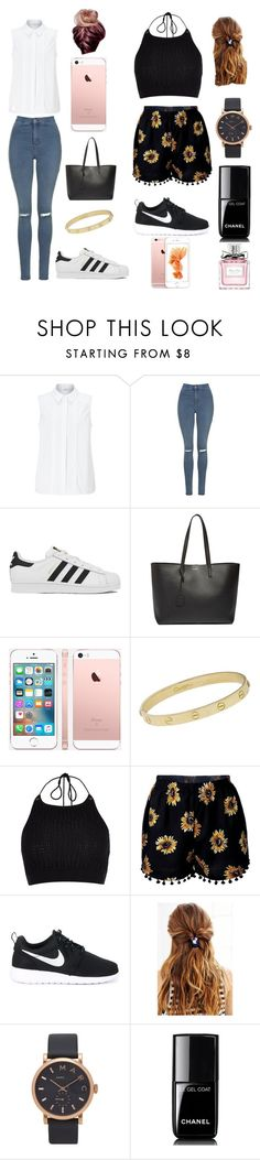 """Which side are you? Left for me"" by lacey-rose-fashion ❤ liked on Polyvore featuring John Lewis, Topshop, adidas, Yves Saint Laurent, Cartier, River Island, NIKE, Urban Outfitters, Marc Jacobs and Chanel"