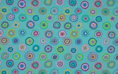 Fabric Turquoise : By Fassett Silks Rainbow - Plink In Kaffe